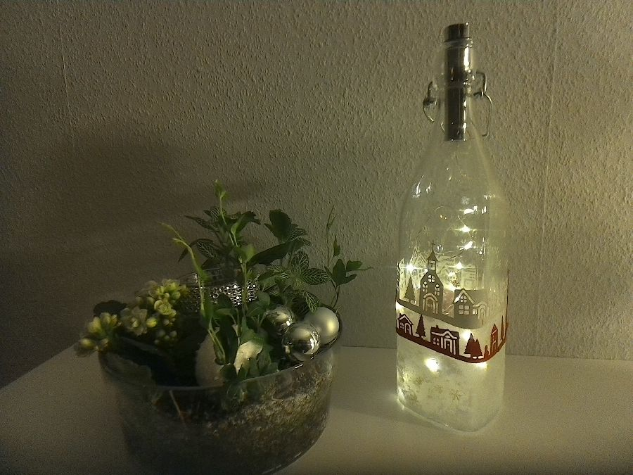 Workshop: Winterliche Lichterflasche